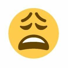 Stressed emoji